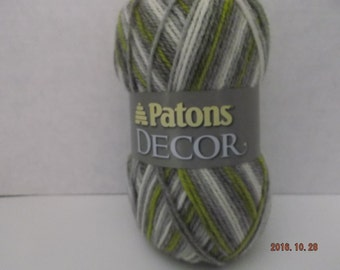 Patons Decor Yarn ~ Wool Blend ~ Frond - Variegated ~ #4 Medium ~ 3.5 oz ~ 208 Yards