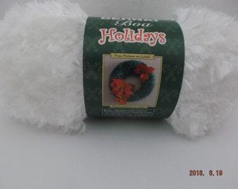 Bernat Boa Holidays Yarn ~ 100 Grams ~ 129 Yards ~ Blizzard (white) ~ # 5 Bulky ~