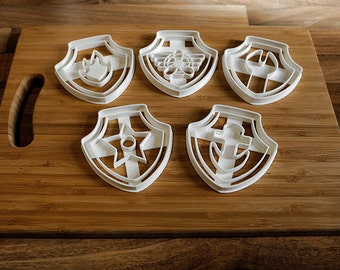 Paw Patrol Cookie Cutters x 5 Paw Patrol Biscuit Cutters