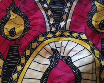 African Print Fabric Strip