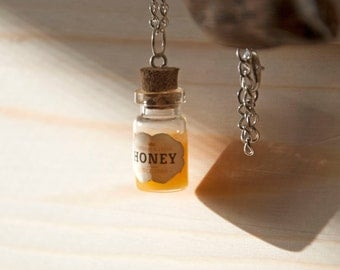Handmade necklace with honey pot
