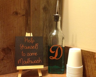 Mouthwash Bottle Dispenser-Personalized Customized