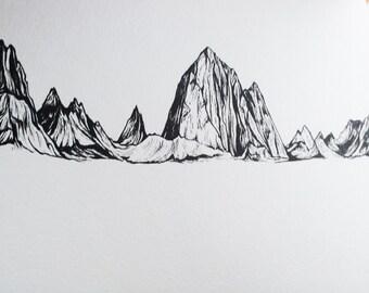 Fitz- mountain illustration