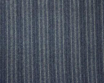 Blue Striped Wool
