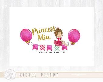 Party Logo Design Princess Logo Kids Logo  Watermark Photography Logo Boutique Logo Premade Logo