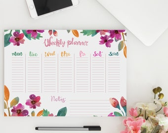 3 PRINTABLE Weekly Planners  - Weekly Organizer // A4 Weekly Planner Inserts - 3 for the price of 1