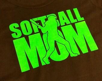 Softball/Baseball MOM tshirt