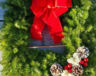 Fresh Maine Balsam Fir Square Wreath