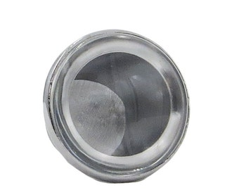 Clear Glass Cabochon, Glass & Knob Base, 1.5X Magnify - DIY Make Your Own Drawer, Door or Cabinet Knob Pulls - W10