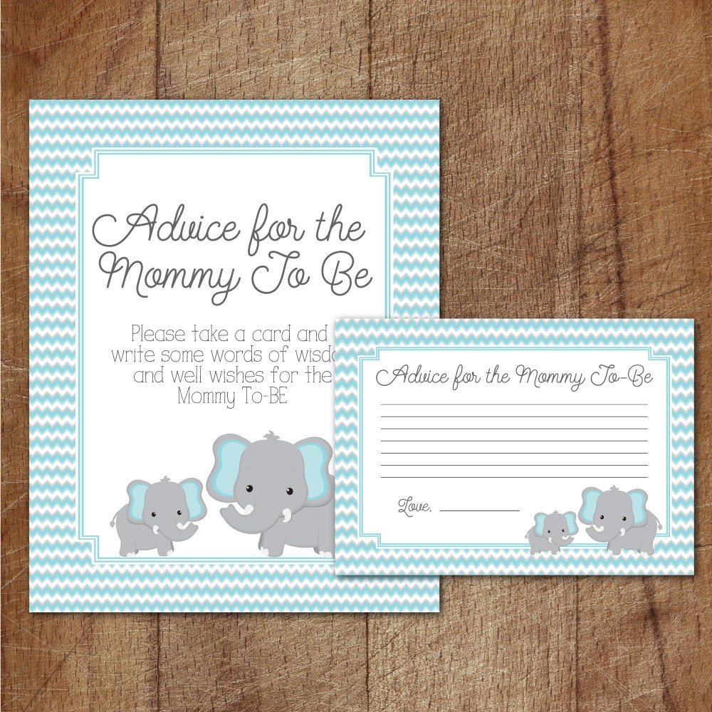 Slobbery image in mommy advice cards printable