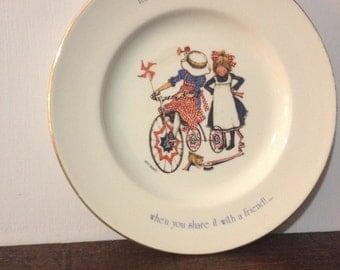 Holly Hobbie Freedom Series Plate