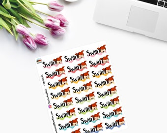 SWIMMING  GIRL Planner Stickers CAM00044