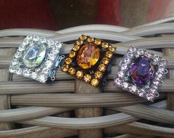Triple Strand Swarovski Crystal Clasp