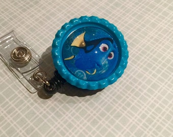 Dory Badge Reel-Finding Nemo-Retractable Badge Reel!! - Lanyards & Badge Holders