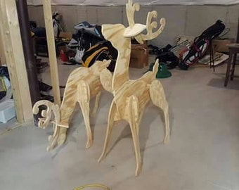 Wooden Reindeer for the yard.