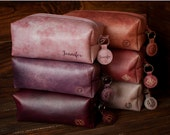 Makeup bag, wedding gift, travel bag, toiletry bag, cosmetic bag, leather makeup bag, leather toiletry bag, leather travel bag