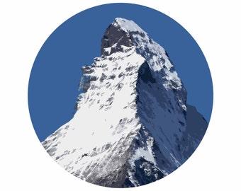 The Matterhorn Circle Canvas A2