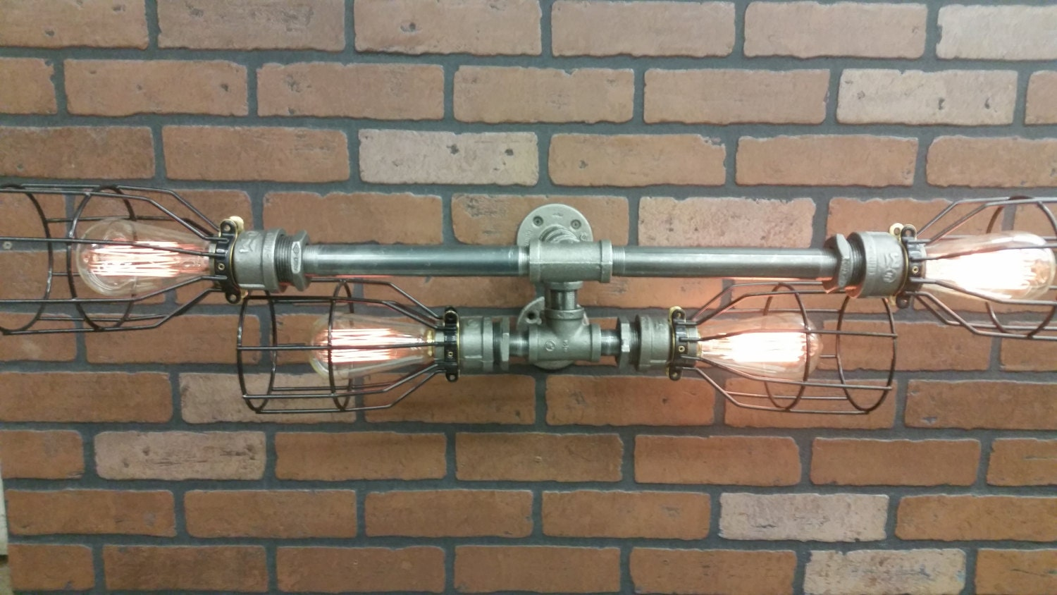 Bathroom Vanity Lights Etsy : Industrial Vanity Light Bathroom Light by RuralIndustrial on Etsy