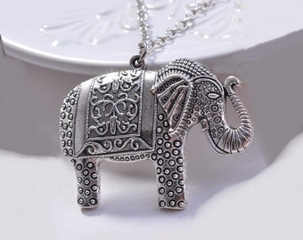 Elephant Pendant Necklace, Elephant Pendant, Elephant Necklace,  Elephant Jewelry, Elephant Gift