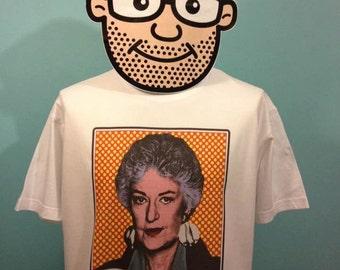 Golden Girls Dorothy Zbornak Pop Art T-Shirt (Bea Arthur - choice of phrases) - White Shirt