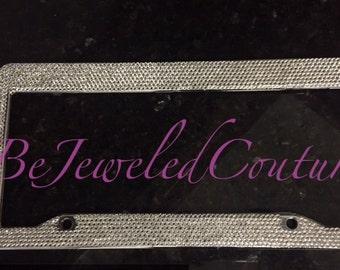 Swarovski License Plate Frame