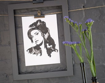 Amy Winehouse Inkling print