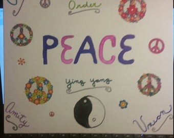 peace wall hanging