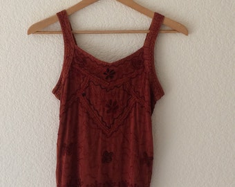 India embroidered vintage top