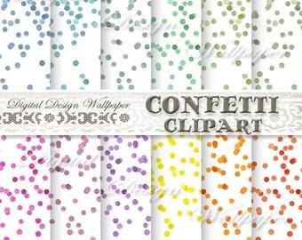 Confetti Clipart,Watercolor Confetti Clipart,Colorful Confetti Clipart,Confetti PNG,Confetti Border,Watercolor Confetti Border