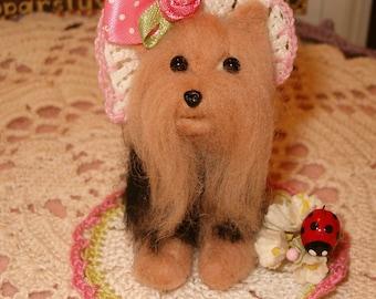 Needle Felted Yorkshire Terrier Ooak