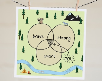 You Are Brave Strong Smart Card | Cheer Up Card | Thinking of You Card | Friendship Card | Motivational Card | Winnie The Pooh | AA Milne