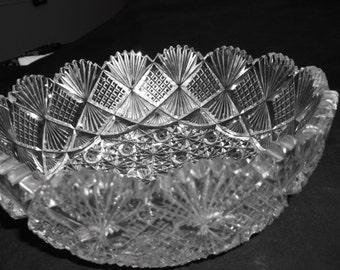 Antique Brilliant Cut Crystal Bowl circa.1862-1921 Dorflinger?