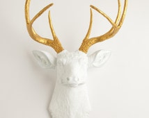 Faux Deer Decor, Deer Head Decor, Faux Taxidermy, Faux, Deer, Wall Art, Wall Decor, Faux Animal Head by Mod Allure- Alfred