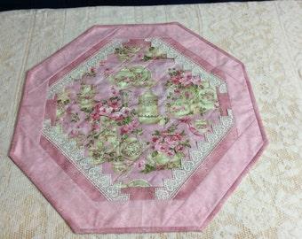 Cotton doily table topper