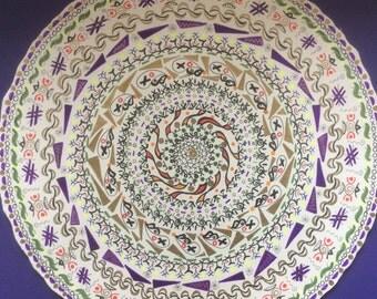 Original Mandala - dark purple background.