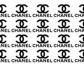 Set of 20 2.5'' CHANEL Stickers, Chanel Vinyl Decals, CHANEL logo stickers, Chanel sign, envelope seals, gift favors, vase glass stickers.