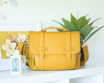 Stylish Messenger Camera Bag - SUMMER OCHRE - Women Camera Bag - DSLR Bag - Crossbody Camera Bag