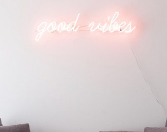Good Vibes neon sign - handmade neon light