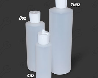 Squeeze Bottle with Easy Flip Top (Choose Size 4, 8 or 16oz)