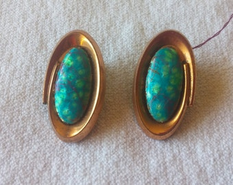 """Vintage Copper """"Renoir"""" Earrings"""