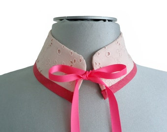 Pink removable mao Tristan collar