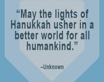 Hanukkah Themed Quotebook