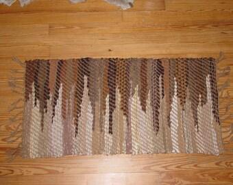 Handwoven Rag Rug Zigzag