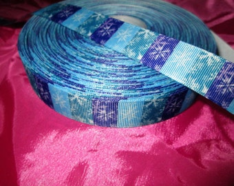 Cute 7/8 Grosgrain Frozen Style Ribbon for Hair bow and More