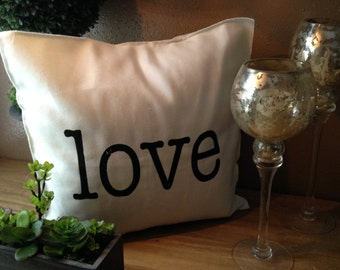 LOVE 18x18 Pillow Case