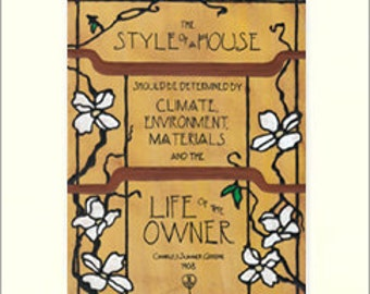 Greene - Style of a House: Matted Giclée Art Print by The Bungalow Craft by Julie Leidel (Arts & Crafts Movement)