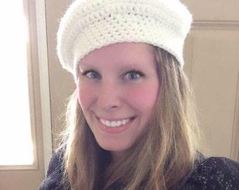 CLASSIC BERET, Winter Hat, Crochet Beret, Crochet hat
