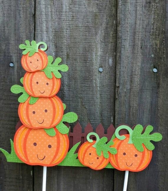 Pumpkin Smash Cake: Pumpkin Cake TopperPumpkin Patch SignPumpkin Baby ShowerOur
