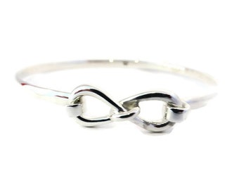 925 Sterling Silver Bangle/Georg Jensen Style/Ethical Silver Jewelry/Infinity/Bridemaids Gifts/Mothers Day/Wedding Shower/Sale