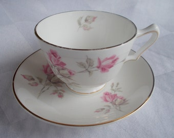 SALE - Just Reduced ! Staffordshire English Rose Cup and Saucer